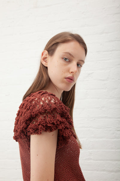 Ulla Johnson Mirella Top in Mahogany | Oroboro Store | New York, NY
