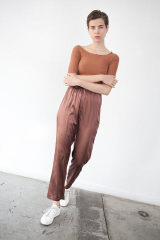 Base Range Azour Highwaist Pant in Dark Brown | Oroboro Store | Brooklyn, New York