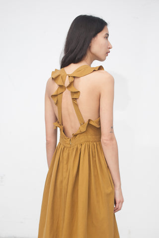 Ulla Johnson Willa Pinafore in Ochre | Oroboro Store | New York, NY