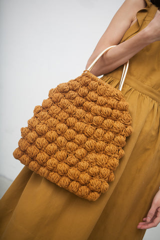 Ulla Johnson Hand Crochet Bobble Handbag in Ochre | Oroboro Store | New York, NY
