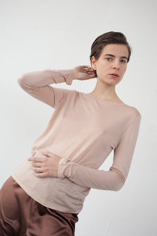 Base Range Long Sleeve Tee in Nude | Oroboro Store | Brooklyn, New York