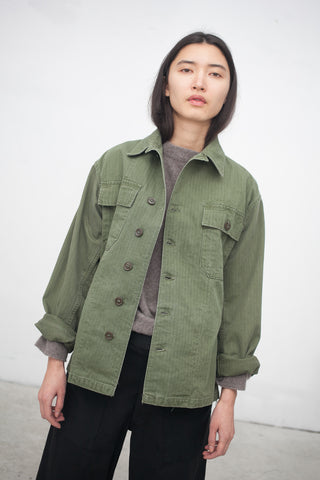 As Ever 40's Embroidered Jacket in Olive Magnolia | Oroboro Store | New York, NY
