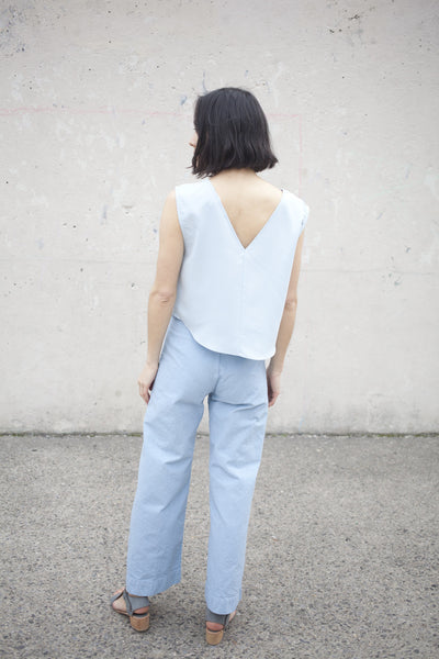 Jesse Kamm Sailor Pant in Piscine Blue | Oroboro | Brooklyn, New York
