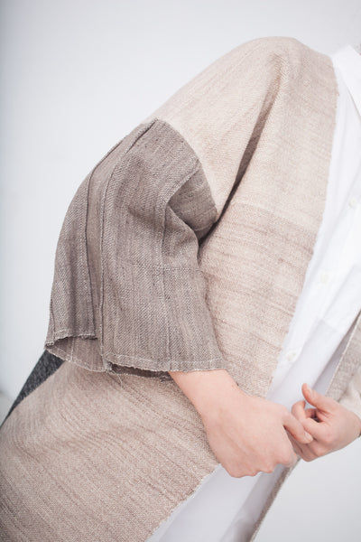 Pleat Sleeve Kimono in Multi | Oroboro Store | New York, NY