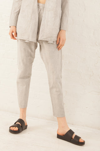 Cosmic Wonder Yama-Nokoromo Sashiko Monpe Pants in Light Sumikuro | Oroboro Store | New York, NY