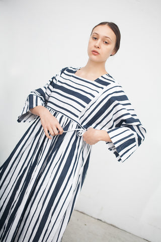 Ter et Bantine Stripe Dress in Navy and White | Oroboro Store | New York, NY