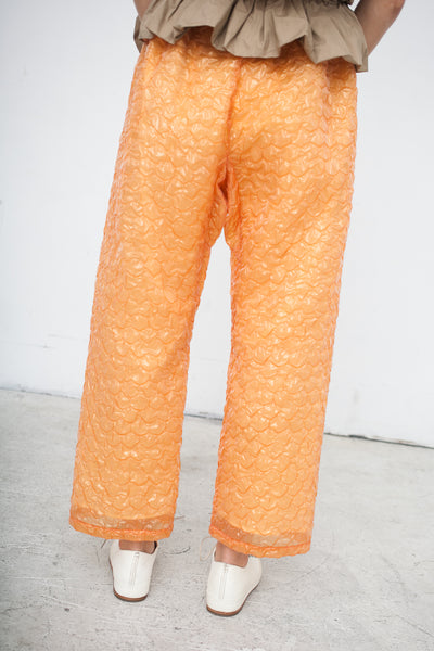 Ter et Bantine Bubble Wrap Pant in Orange | Oroboro Store | New York, NY