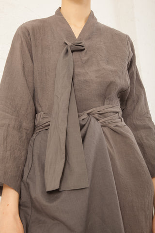 Cosmic Wonder Umi-Hagoromo Linen Folk Jacket in Gray | Oroboro Store | New York, NY