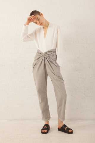 Cosmic Wonder Organic Cotton Wrapped Pants in Light Sumikuro | Oroboro Store | New York, NY