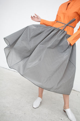 Ter et Bantine Bicolor Dress in Orange and Grey | Oroboro Store | New York, NY