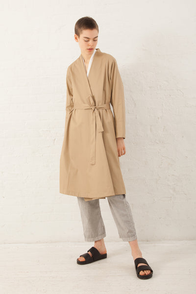 Cosmic Wonder Yama-Nokoromo Trench Coat in Beige | Oroboro Store | New York, NY