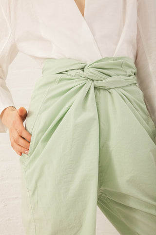 Cosmic Wonder Organic Cotton Wrapped Pants in Jade | Oroboro Store | New York, NY
