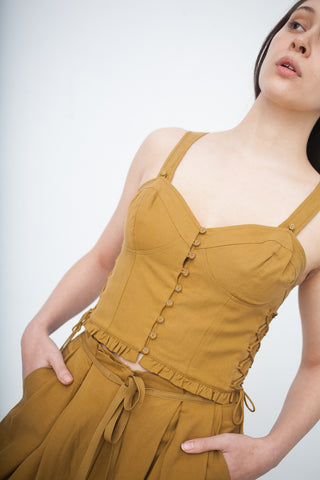 Ulla Johnson Thea Top in Ochre | Oroboro Store | New York, NY
