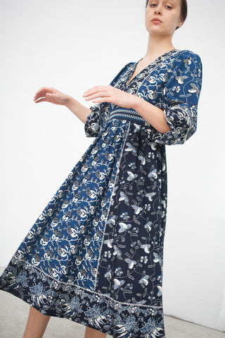 Ulla Johnson Iona Dress-in Indigo | Orobor Store | New York, NY