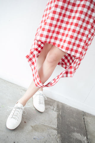 Nancy Stella Soto Cutout Dress in Red Gingham | Oroboro Store | Brooklyn, New York