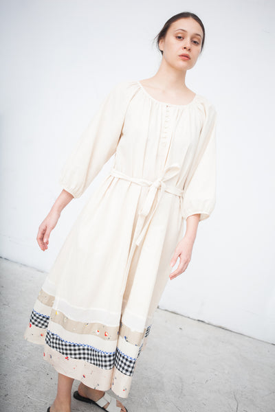 Caron Callahan Michele Dress in Oatmeal Voile | Oroboro Store | New York, NY