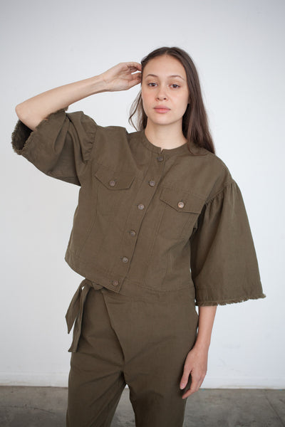 Ulla Johnson Kloe Jacket in Olive | Oroboro Store | Brooklyn, New York