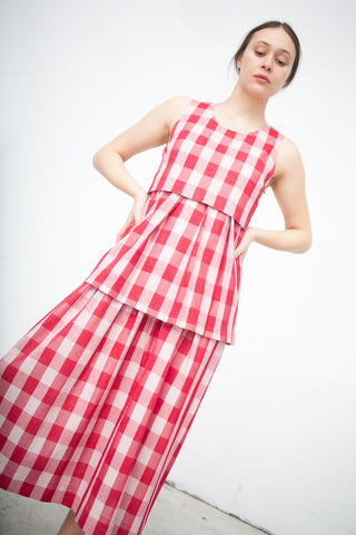 Caron Callahan Camille Dress in Red Gingham | Oroboro Store | New York, NY