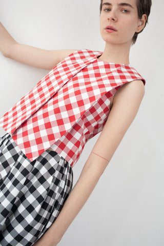 Nancy Stella Soto Sleeveless Top in Red Gingham | Oroboro Store | Brooklyn, New York