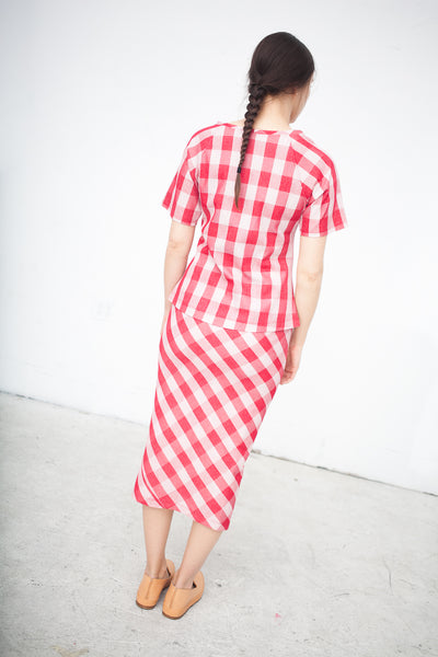 Caron Callahan Yves Tee in Red Gingham | Oroboro Store | New York, NY