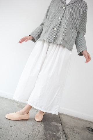 AVN Cropped Pant in White | Oroboro Store | Brooklyn, New York