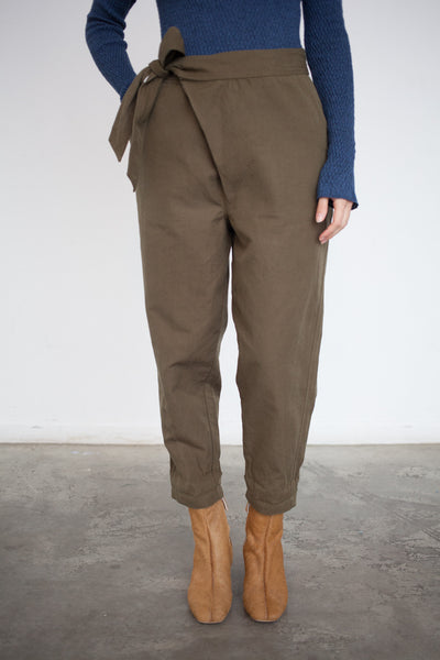 Ulla Johnson Adela Pant in Olive | Oroboro Store | Brooklyn, New York