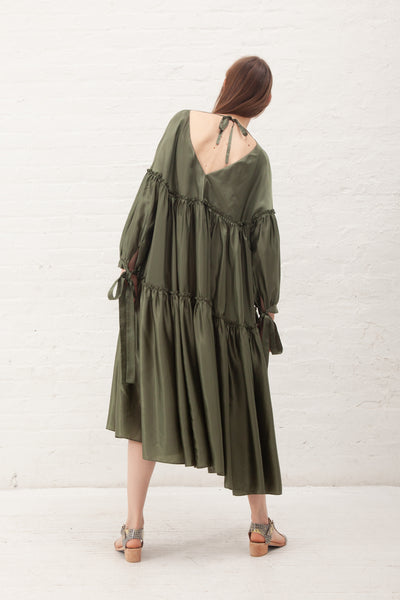 Rejina Pyo Sara Dress Cupro in Khaki Green | Oroboro Store | New York, NY