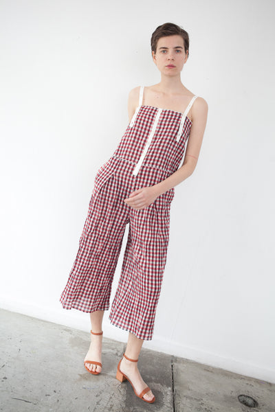 Jumpsuit in Red Gingham