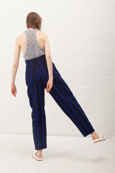 Luna Del Pinal Trousers in Blue/Black | Oroboro Store | New York, NY