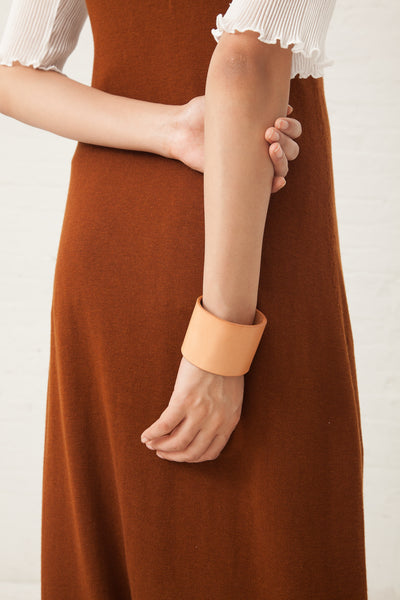 Lauren Manoogian Mono Cuff in Leather Veg Tan | Oroboro Store | New York, NY