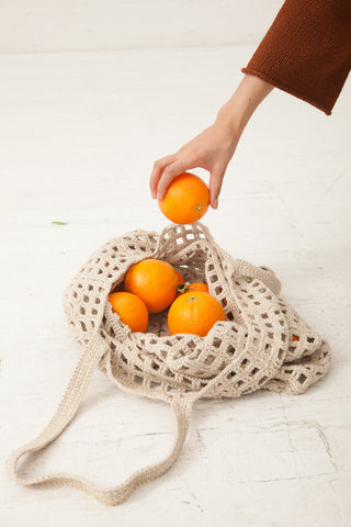 Lauren Manoogian Crochet Net Bag in Natural | Oroboro Store | New York, NY