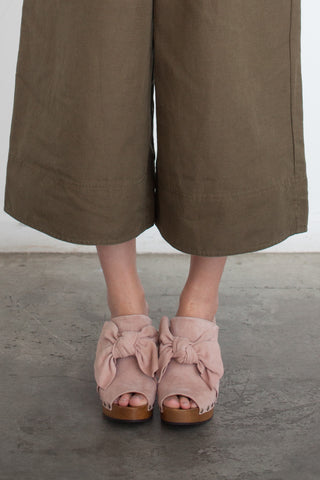 Ulla Johnson Stevie Clog in Rose Suede | Oroboro Store | Brooklyn, New York