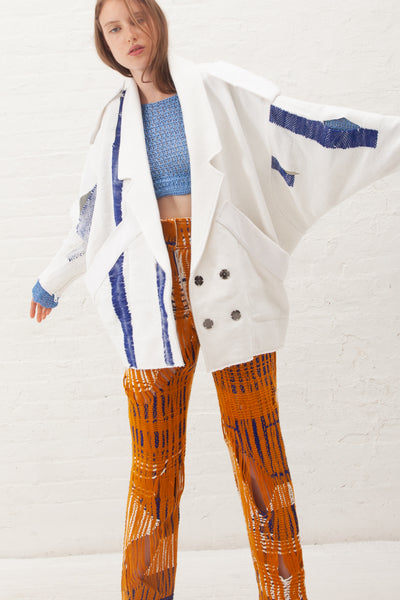 Luna Del Pinal Jacket in White | Oroboro Store | New York, NY