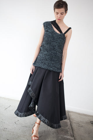 Yulia Kondranina Flare Maxi Skirt in Black | Oroboro Store | Brooklyn, New York