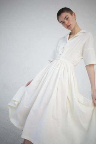 Black Crane Classy Dress in Cream | Oroboro Store | New York, NY