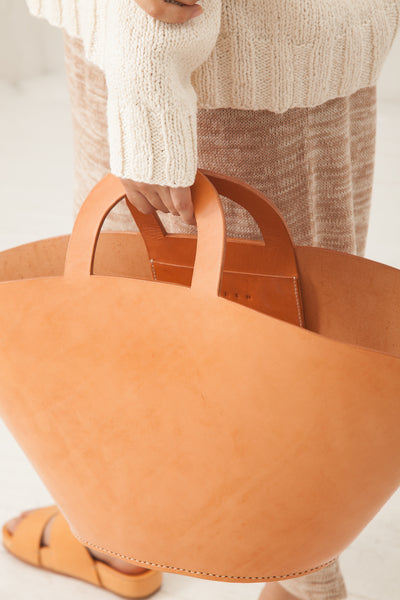 Lauren Manoogian Barcelona Bag in Veg Tan Leather | Oroboro Store | New York, NY