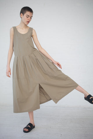 Black Crane Patched Dress in Sage | Oroboro Store | New York, NY