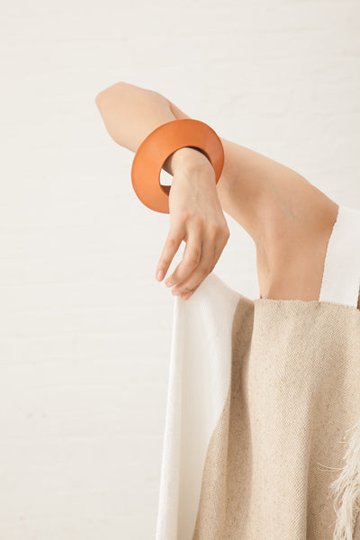 Lauren Manoogian Saucer Bangle in Veg Tan | Oroboro Store | New York, NY
