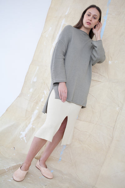 Oversized Boatneck in Clay