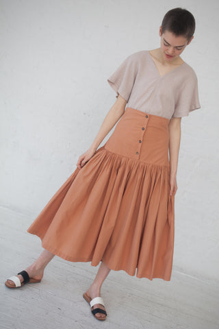 Black Crane Lantan Skirt in Coral | Oroboro Store | New York, NY