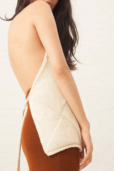 Lauren Manoogian Entrelac Halter in Crudo | Oroboro Store | New York, NY