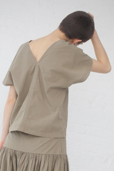 Black Crane Two Panels Top in Sage | Oroboro Store | New York, NY