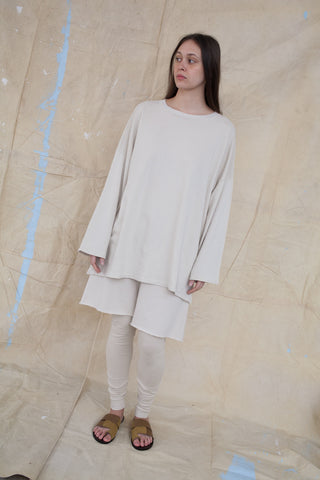 Lauren Manoogian Cashmere Oversized Sweater in Almond | Oroboro Store | Brooklyn, New York