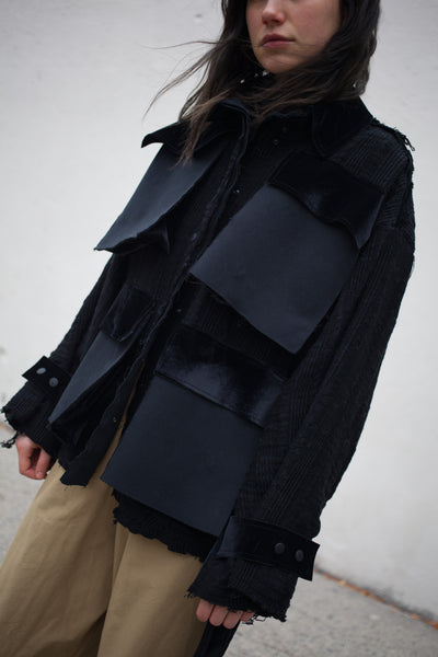 Handmade Textured Black Jacket