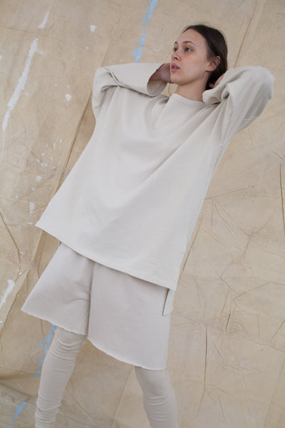 Cashmere Oversized Sweater in Almond