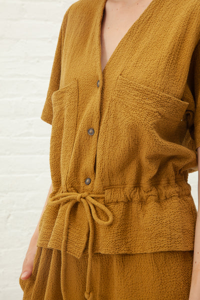 Black Crane S/S Sack Jumper in Mustard | Oroboro Store | New York, NY