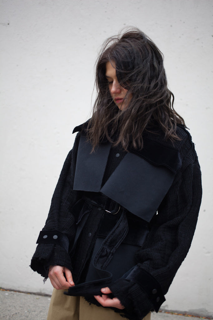 Luna Del Pinal Handmade Textured Black Jacket | Oroboro Store | Brooklyn, New York