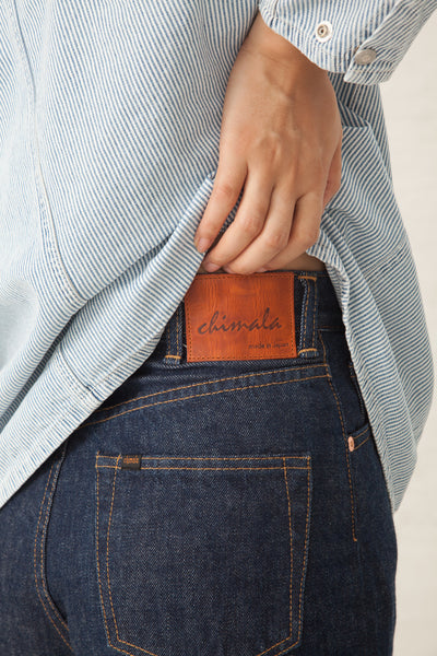 Chimala Selvedge Denim Monroe Cut in Rinse | Oroboro | New York, NY