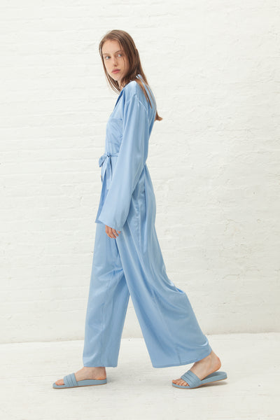 Baserange Nogales Jumpsuit Silk Satin in Everest Blue | Oroboro Store | New York, NY