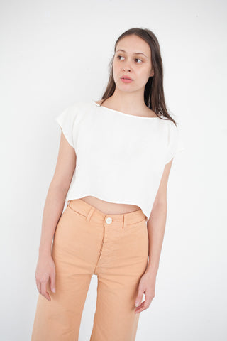 Jesse Kamm Rectangle Top in Salt White | Oroboro Store | Brooklyn, New York
